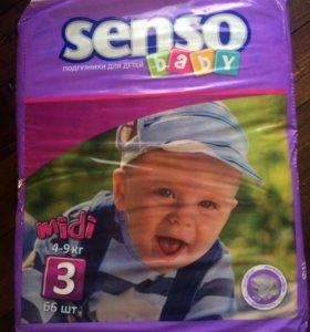 Памперсы Senso baby