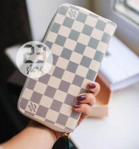 Кожаный кошелёк LV, новый