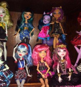 Куклы монстр хай, каждая кукла по 1.580р.