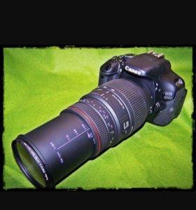Фотоаппарат Canon 600D с объективом Sigma 70-300