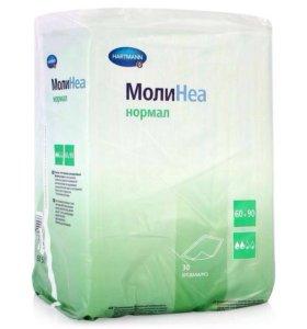 Новая упаковка пеленок Hartmann molinea