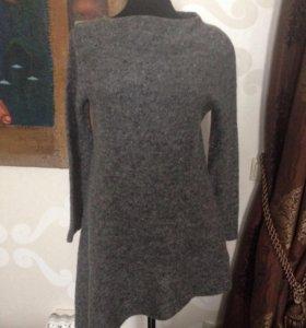 Шерстяной свитер-туника