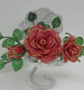 Розы в ракушке