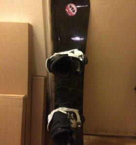 Сноуборд комплект в идеале. Доска, ботинки, боты