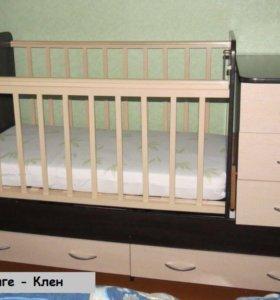 Кроватка трансформер для детей от рождения до 5
