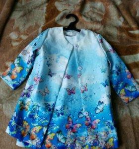 Костюм(платье+пальто) размер 8т.