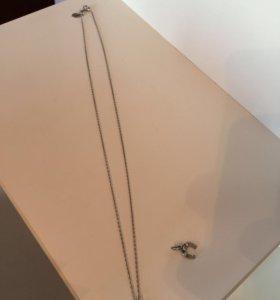Цепочка и подвеска sunlight серебро