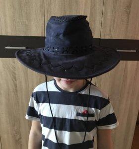 Шляпа ковбойская натуральная замша!
