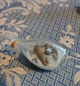 Сувенир Бутылочка с ракушками