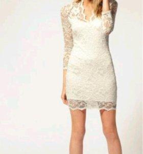 Белое кружевное платье. Новое.