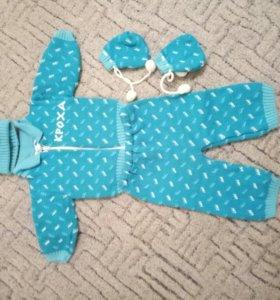 Теплый вязаный костюм