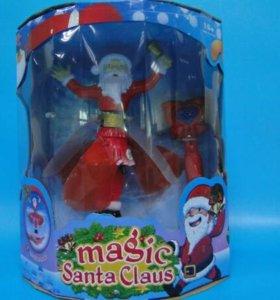 Летающий Санта Клаус с подсветкой
