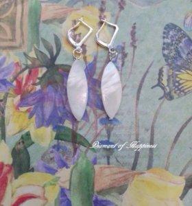 Серьги и браслет из Перламутра 🌊