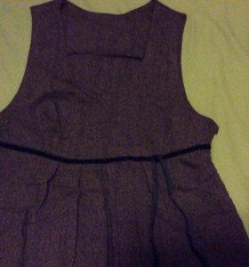 Платье твидовое для беременных