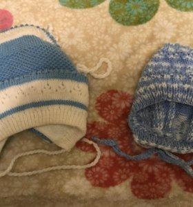 Вязаные шапочки для малыша