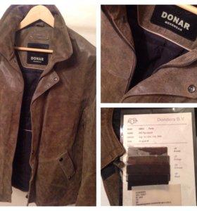 Куртка кожаная Donders BV коричневая