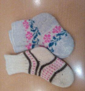 Вязаные носки, новые