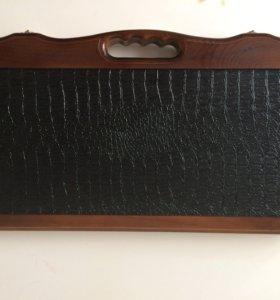 Нарды ручной работы с кожаным покрытием