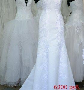 Свадебное платье р-р 46