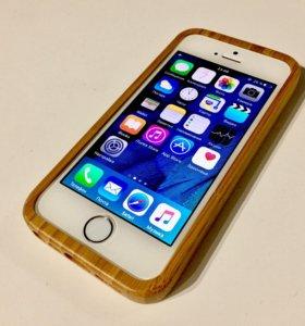 Чехол из бамбука iPhone 5/5S/SE