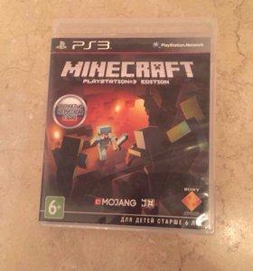 """Диск на PS3 """"minecraft"""" в отличном состоянии"""