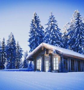 Дома из дерева ручной работы