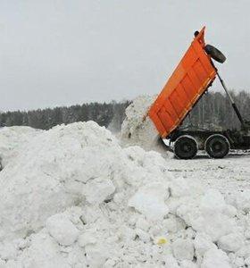 Очистка территорий от снега, с вывозом!