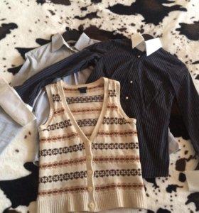 Gant рубашки и жилетка