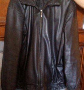 Куртка мужская натуральная кожа б/у