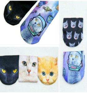 Элегантные носки 3 Д Кошки Коты