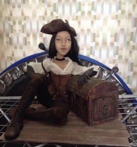 Кукла пиратка ручной авторской работы