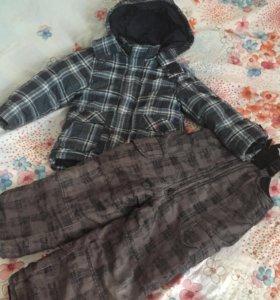 Костюм демисезон/тёплая зима на мальчика 2-4 года