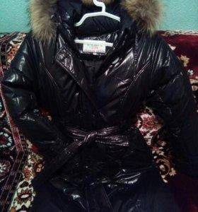 Зимнее пальто пуховик для девочки