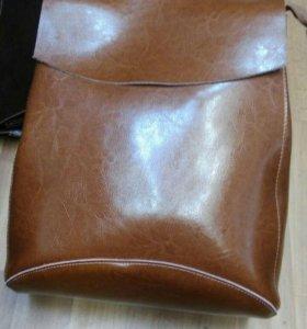 Рюкзак- сумка кожа