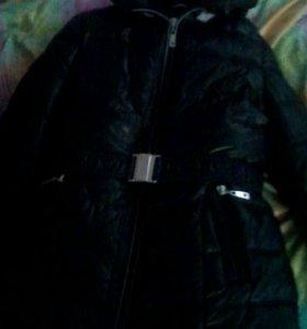 Пуховик зимний с ремешком