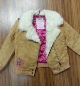 Куртка-пилотка демисезон дев.