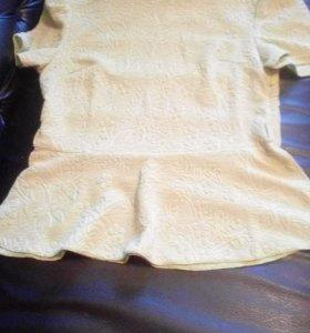 Новая блузка с баской