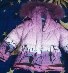 Теплый костюм для девочки 2-4 года