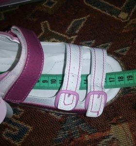 Детские ортопедические сандалии кожа