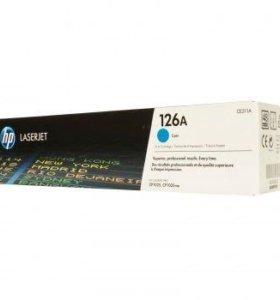 Картридж Hp CE311A 126A голубой (cyan) 1000стр.