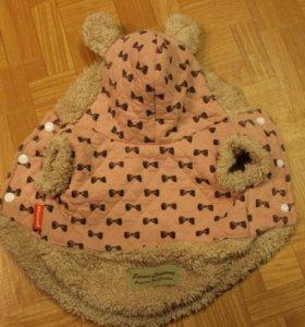 Толстовка теплая с капюшоном на утеплителе, р. S