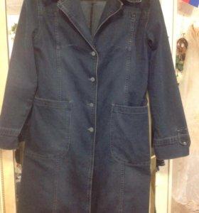 Джинсовое пальто новое