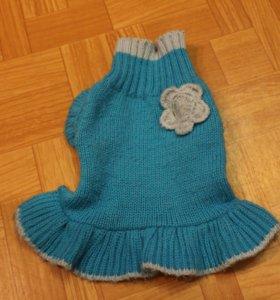 Платье  вязаное, р. XS