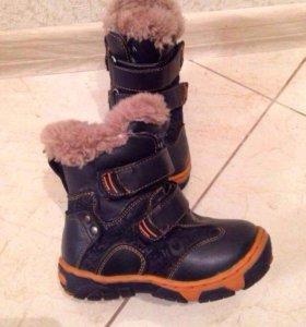 Тёплые зимние ботинки, размер 23