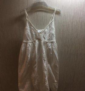 Платье сарафан белый