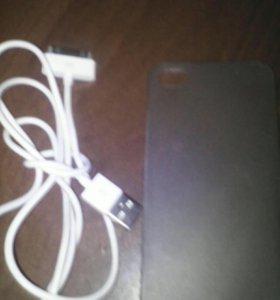 Usb iphone,чехол 4s