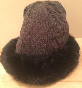 Женская тёплая шапка