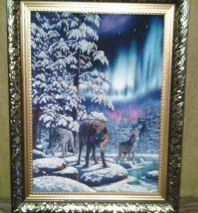 """Картина бисером """"Северное сияние"""""""