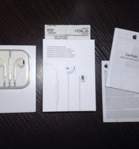Наушники EarPods iPhone 6. Оригинал. Новые