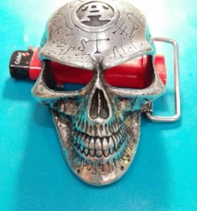Пряжка Alchemy Gothic b69 Omega Skull